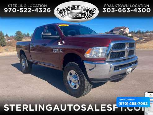 2016 RAM 2500 4WD Crew Cab 149 Tradesman - CALL/TEXT TODAY! - cars &... for sale in Sterling, CO