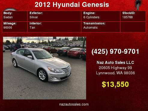 2012 Hyundai Genesis for sale in Lynnwood, WA