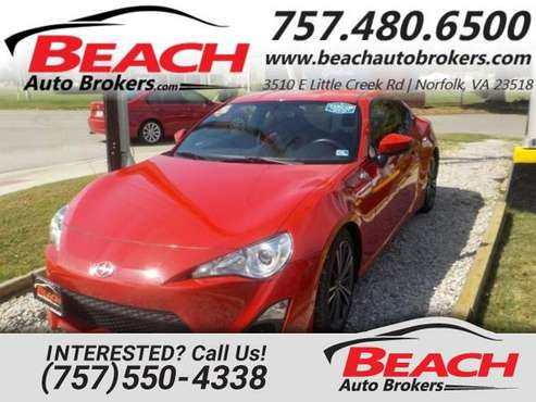 2016 Scion FR-S COUPE, WARRANTY, MANUAL, BLUETOOTH, KEYLESS ENTRY, for sale in Norfolk, VA