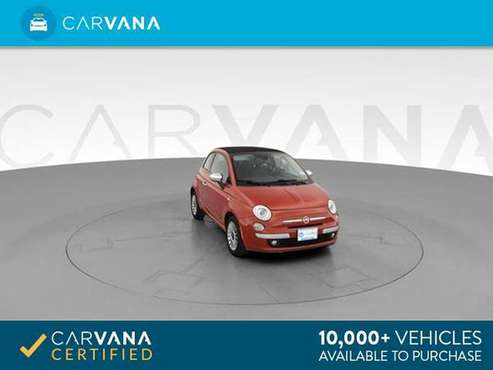 2012 FIAT 500 500C Lounge Convertible 2D Convertible RED - FINANCE for sale in Atlanta, FL