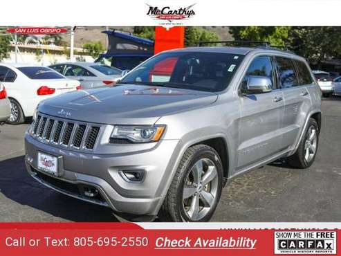 2015 Jeep Grand Cherokee Overland suv Billet Silver Metallic Clearcoat for sale in San Luis Obispo, CA