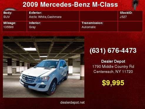 2009 Mercedes-Benz M-Class ML350 SUV for sale in Centereach, NY