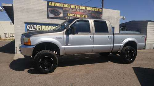 2001 FORD F-350 LIFTED 4X4 CREW CAB 7.3 DIESEL - cars & trucks - by... for sale in Phoenix, AZ
