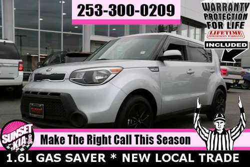 2016 Kia Soul 1.6L GAS SAVER Hatchback WARRANTY 4 LIFE for sale in Auburn, WA