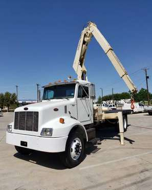 2002 Peterbilt 330 Crane Truck (National) W/16-Ft Flatbed for sale in Arlington, TX