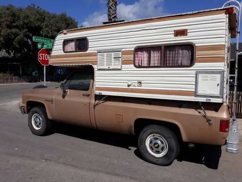 1986 Chevy Pickup with camper for sale in Santa Cruz, CA