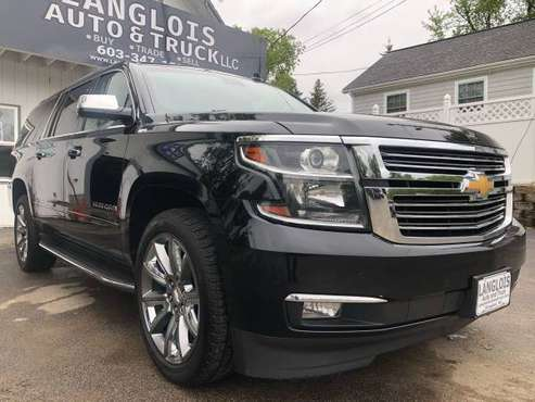 "2015 CHEVY SUBURBAN LTZ BLACK 22"" WHEELS 1 OWNER FULLY SERVICED! for sale in Kingston, MA"