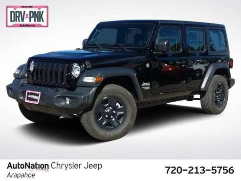 2018 Jeep Wrangler Unlimited Sport 4x4 4WD Four Wheel SKU:JW198305 for sale in Englewood, CO