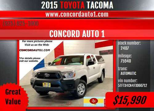 TOYOTA TACOMA *ONE OWNER* *WE FINANCE* *GREAT CONDITION* *CALIF TRUCK* for sale in Concord CA 94520, CA