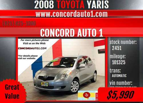 TOYOTA YARIS *WELL SERVICED* *EASY FINANCE* *VERY GOOD CONDITION* for sale in Concord CA 94520, CA