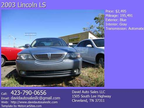 2003 Lincoln LS for sale in Cleveland, TN
