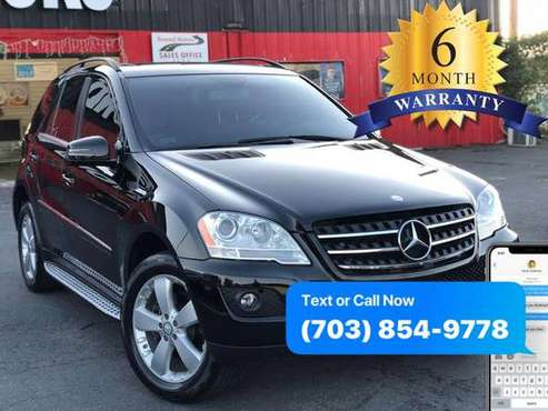 2011 MERCEDES-BENZ ML 350 4MATIC 6 MONTHS WARRANTY INCLUDED for sale in Manassas, VA
