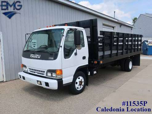 2005 Isuzu NPR 18FT Stake Truck 1-Owner 77,000 Miles Clean for sale in Caledonia, IN