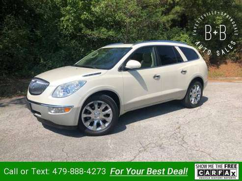 2012 Buick Enclave Premium AWD suv Pearl White for sale in Fayetteville, AR