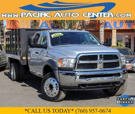 2017 Ram 5500 Diesel Tradesman Crew Cab 4x4 Utility Stake Bed #34039... for sale in Fontana, CA