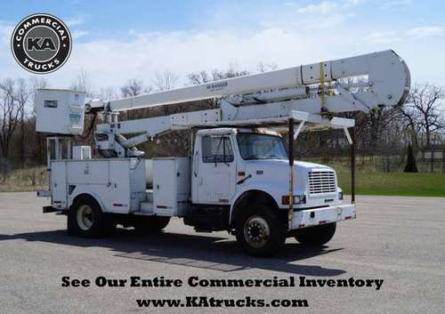 1998 International 4700 - 55ft Bucket Truck - 2WD 7.3L V8 Boom Truc for sale in Dassel, MN
