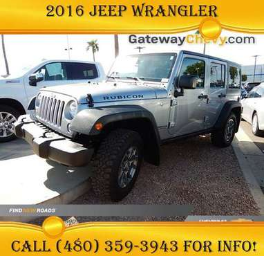 2016 Jeep Wrangler Unlimited Rubicon - Low Rates Available! for sale in Avondale, AZ