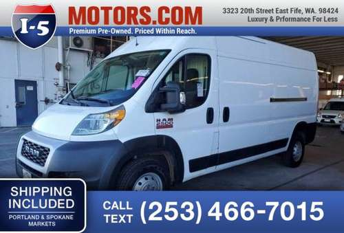 2019 Ram ProMaster Cargo Van High Roof Van ProMaster Cargo Van Ram -... for sale in Fife, WA