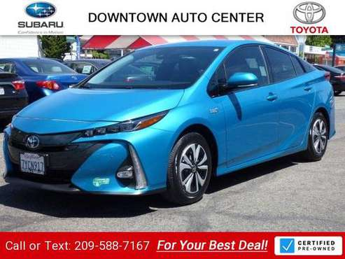 2017 Toyota Prius Prime Advanced sedan Blue Magnetism for sale in Oakland, CA