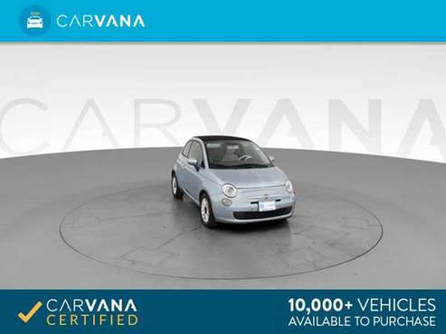 2013 FIAT 500 500c Pop Cabrio Convertible 2D Convertible BLUE - for sale in Miami, FL
