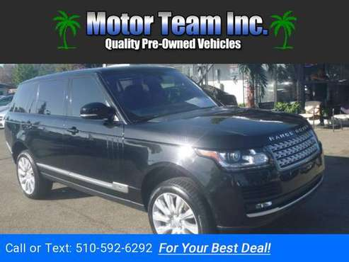 2016 Land Rover Range Rover Supercharged LWB Black GOOD OR BAD CREDIT! for sale in Hayward, CA