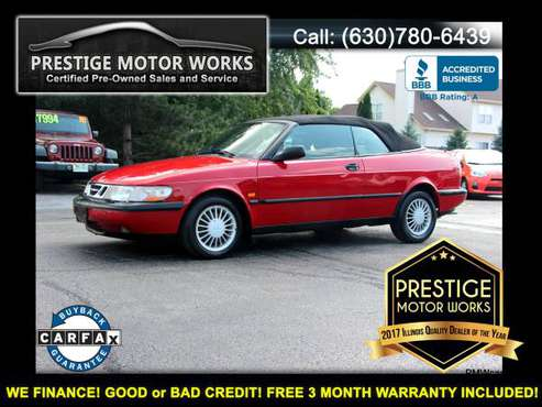 1995 Saab 900! Clean Carfax! First $1500 CASH TAKES IT HOME! for sale in Naperville, IL