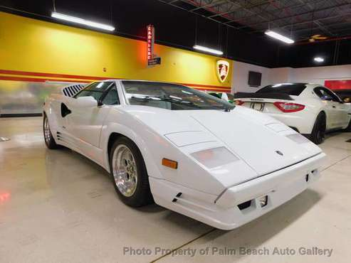 1989 *Lamborghini* *Countach* *Base Trim* White for sale in Boynton Beach , FL