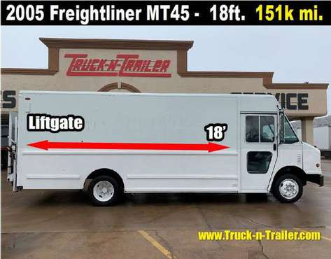 2005 Freightliner MT45 18' Step Van, Diesel, Auto, 151K Miles, Rail Li for sale in Oklahoma City, OK