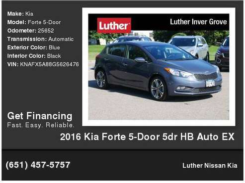 2016 Kia Forte 5-Door 5dr HB Auto EX for sale in Inver Grove Heights, MN