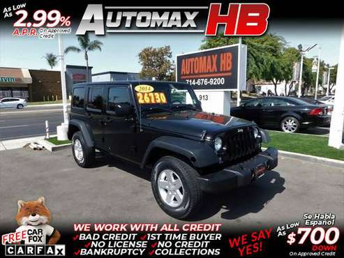 2014 Jeep Wrangler Unlimited Sport for sale in Huntington Beach, CA