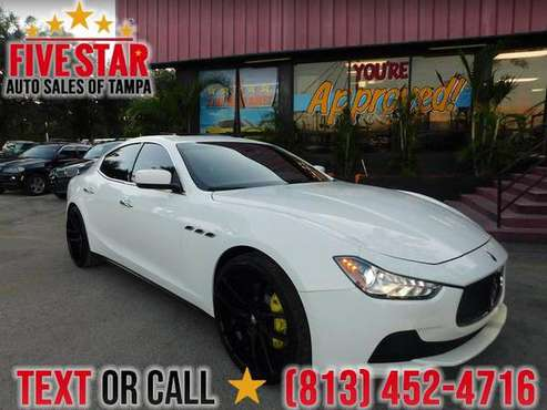 2014 Maserati Ghibli S Q4 S Q4 AS LOW AS 1500 DOWN! W,A,C AS LOW 2.9% for sale in TAMPA, FL