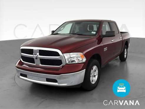2018 Ram 1500 Crew Cab SLT Pickup 4D 5 1/2 ft pickup Burgundy - -... for sale in Lansing, MI
