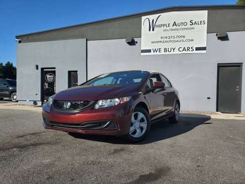 2014 Honda Civic LX 5-Speed - CLEAN CARFAX, LOW MILES, WARRANTY! for sale in Raleigh, NC