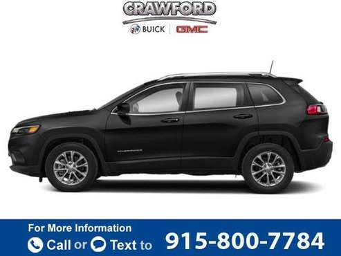 2019 Jeep Cherokee Limited hatchback Diamond Black Crystal Pearlcoat for sale in El Paso, TX