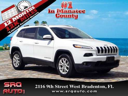 2016 *Jeep* *Cherokee* *Latitude* Bright White Clear for sale in Bradenton, FL