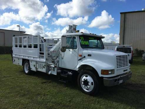COMMERCIAL TRUCKS!! 1999 International 4700 Knuckle Boom -7.3L Diesel! for sale in Palmetto, FL