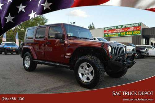 2010 Jeep Wrangler Unlimited Sahara 4x4 4dr SUV BAD CREDIT for sale in Sacramento , CA