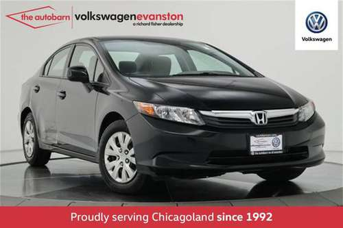 2012 *Honda* *Civic Sedan* *4dr Automatic LX* Crysta for sale in Evanston, IL
