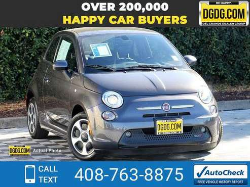 2017 Fiat 500e Battery Electric hatchback Granito Lucente (Granite for sale in San Jose, CA