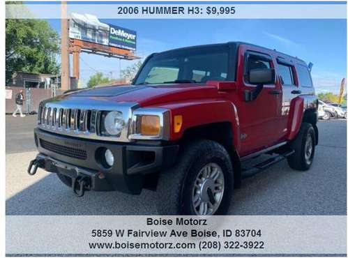 2006 HUMMER H3 ~~~~~~ 4WD ~~~~~~RED~~~~SUPER CLEAN for sale in BOISE MOTORZ 5859 W FAIRVIEW AVE 322-392, ID