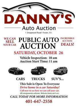 Buying a car? Look here first. Public Auto Auction for sale in Foster, RI