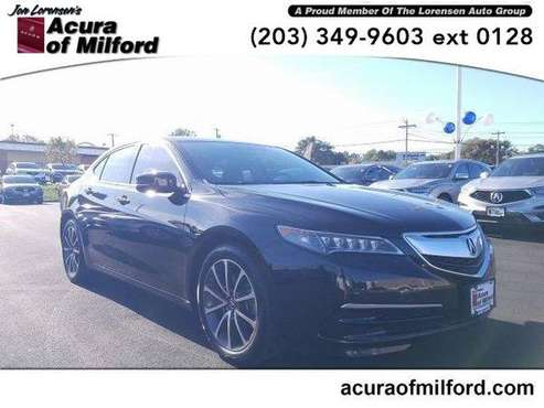 2016 Acura TLX sedan 4dr Sdn SH-AWD V6 Tech (Crystal Black Pearl) for sale in Milford, CT