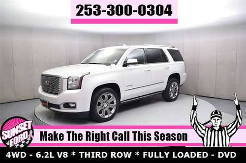 2016 GMC Yukon Denali 6.2L V8 4WD SUV AWD THIRD ROW * CAPTAIN SEATS for sale in Sumner, WA
