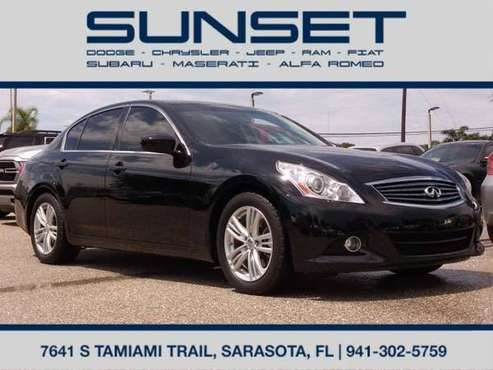 2013 INFINITI G37 Journey Extra Low 36K Miles Super Clean CarFax Cert! for sale in Sarasota, FL