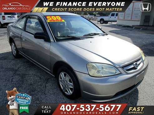 This 2003 Honda Civic LX Coupe $500 DOWN NO CREDIT CHECK for sale in Maitland, FL