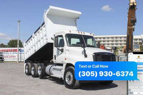 2011 Freightliner Cascadia Tri Axle Dump Truck For Sale *WE FINANCE... for sale in Miami, FL