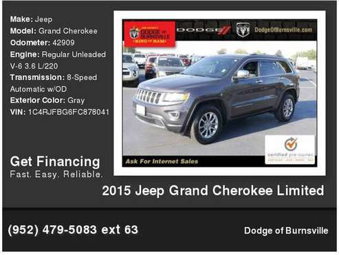 2015 Jeep Grand Cherokee Limited for sale in Burnsville, MN
