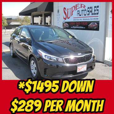 *$1495 Down *$289 Per Month on this 2018 Kia Forte LX Gas Sipper for sale in Modesto, CA