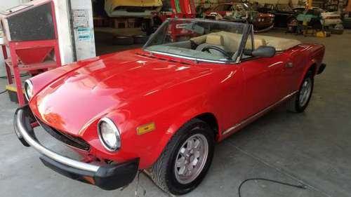 1983 FIAT PININFARINA 124 spider 2000 project for sale in Stanton, CA