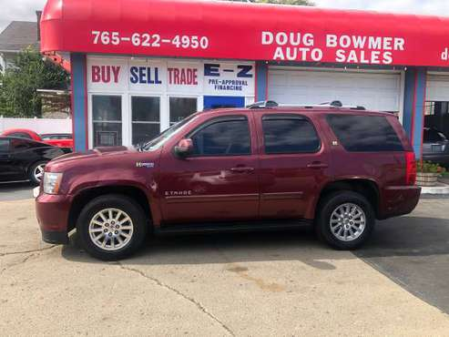 2009 CHEV TAHOE HYBRID 4X4 LEATHER DVD/TV AC LOADED 3RD ROW SEATING for sale in Anderson, IN